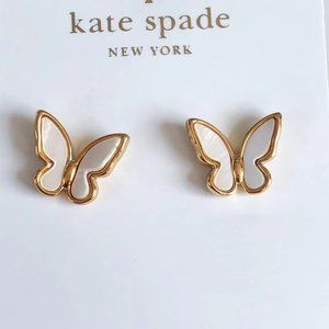 Kate Spade Butterfly White Mother-of-pearl Earring